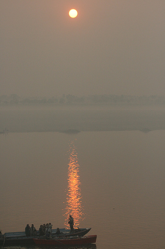 Dawn on the Ganges River