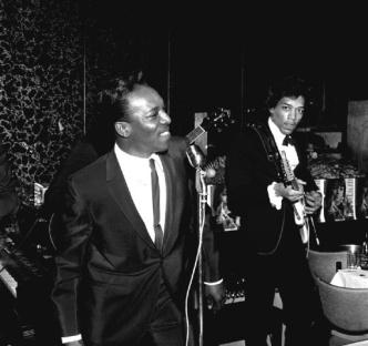 Jimi Hendrix with Wilson Pickett