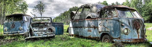 Rusted volkswagons