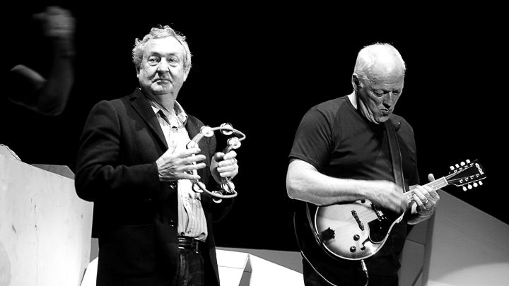 Nick Mason and David Gilmour